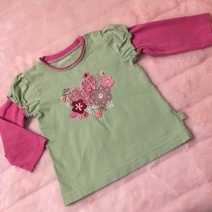 Pumpkin Patch Green and Pink Long Sleeves T-shirt